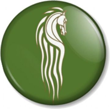 Rohan Kingdom Horse Pinback Button Badge Hobbit JRR Tolkien Lord Of The Rings (1)